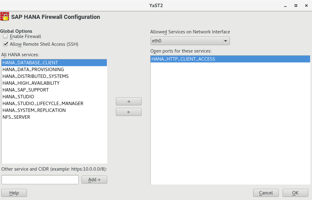 SUSE Doc: Guide - Configuring HANA-Firewall - July 16 2013