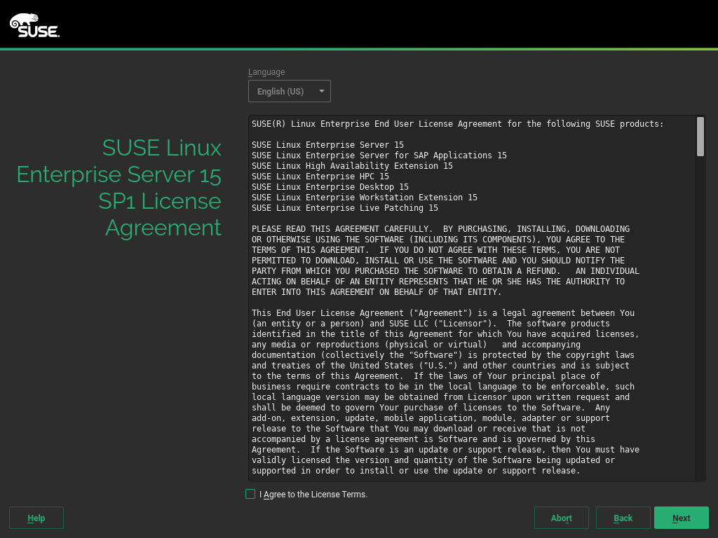 Installation Quick Start | SUSE Linux Enterprise Server 15 SP1